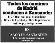 Inserción en prensa de Bansander